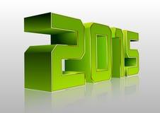 3D Groen van 2015 Stock Fotografie