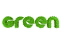 3D Groen Word met Gras Royalty-vrije Stock Fotografie