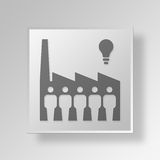 3D Grote Uitvinder Button Icon Concept stock illustratie