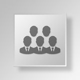 3D group Button Icon Concept Stock Photo