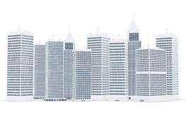 3D corporate buildings Stock Images