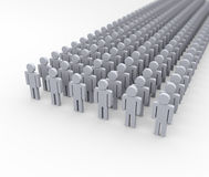 3d group of crowd people Royalty Free Stock Photos