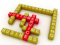 3d Group of customer service Stock Image