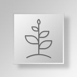 3D grow Button Icon Concept Stock Images