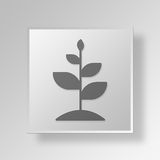 3D grow icon Business Concept. 3D Symbol Gray Square grow icon Business Concept Royalty Free Stock Images