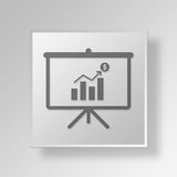 3D growth Button Icon Concept. 3D Symbol Gray Square growth Button Icon Concept Royalty Free Stock Photography