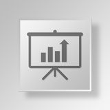 3D growth Button Icon Concept. 3D Symbol Gray Square growth Button Icon Concept Stock Photography