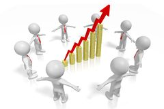 3D growth chart concept Royalty Free Stock Images