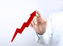 3D Growth graph Stock Photography