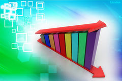 3d Growth graph Illustration Royalty Free Stock Photos