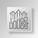 3D growth icon Business Concept Royalty Free Stock Photography