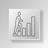 3D Growth steps icon Business Concept Royalty Free Stock Image