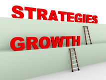 3d growth strategies. 3d illustration of ladder and concept of growth strategies Stock Photos