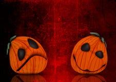 3D grunge Halloweenowy dyniowy tło Zdjęcia Royalty Free