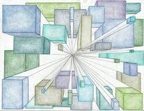 3D Grunge-Patroon stock afbeeldingen