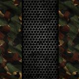 3D grunge tło z metalu i kamuflażu teksturami Zdjęcie Royalty Free