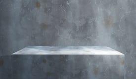 3D grunge wnętrze z betonowym blokiem przeciw ścianie Fotografia Stock