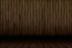 3D grunge wood interior. 3D render of a grunge wood interior Stock Images
