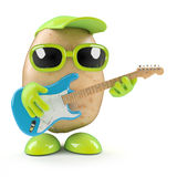 3d Guitarist potato Royalty Free Stock Images