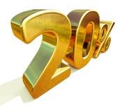3d guld 20 tjugo procent rabatttecken Arkivbild