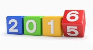 3d - guten Rutsch ins Neue Jahr 2016 - bunt Lizenzfreies Stockfoto