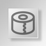 3D gutter Button Icon Concept Royalty Free Stock Image
