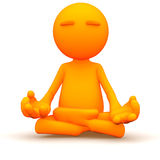 3d Guy: Meditating with Yoga Royalty Free Stock Photo