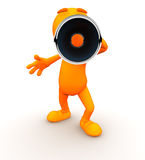3d Guy: Yelling at Camera with a Megaphone Stock Images