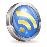 RSS karmy wiadomości guzik Zdjęcia Stock