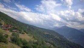 D'Hérens швейцарца Альпов - Val Стоковое Изображение