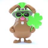3d Häschen St. Patricks stock abbildung