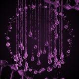 3D ha dettagliato l'illustrazione di una goccia di colore di rosa dell'acqua Immagine Stock