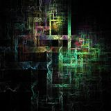 3D ha illuminato le linee astratte arte digitale futuristica delle curve di ardore illustrazione vettoriale