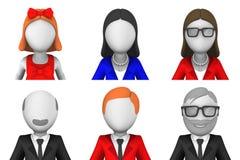 3d ha reso gli avatar illustrazione di stock
