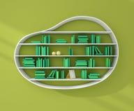 3d ha reso gli scaffali per libri Immagini Stock