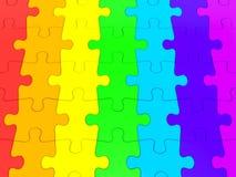 3D ha reso il grafico di un puzzle Immagine Stock