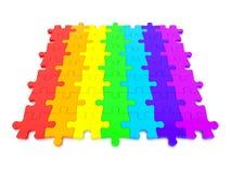3D ha reso il grafico di un puzzle Fotografia Stock Libera da Diritti
