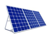 pannello solare 3d Fotografie Stock
