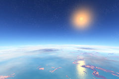 3d ha reso il pianeta dello straniero di fantasia Fotografia Stock Libera da Diritti