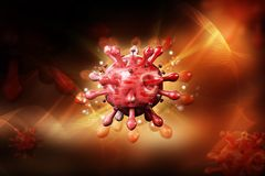3d ha reso il virus di HIV nella circolazione sanguigna a colori il fondo illustrazione di stock