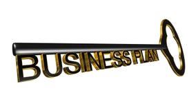 3D ha reso l'illustrazione chiave del business plan Fotografia Stock