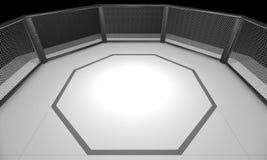 3D ha reso l'illustrazione di un'arena della gabbia di combattimento del Muttahida Majlis-E-Amal Fotografia Stock Libera da Diritti
