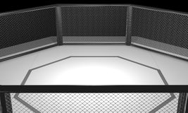 3D ha reso l'illustrazione di un'arena della gabbia di combattimento del Muttahida Majlis-E-Amal Fotografia Stock