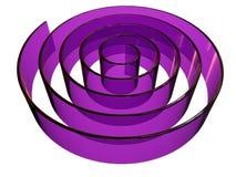 3d ha reso la progettazione astratta del labirinto fatta in vetro Immagine Stock Libera da Diritti