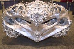 3D ha stampato il metallo liquido Ford Gran Torino Car dall'artista Ioan Florea su esposizione a New York Immagini Stock