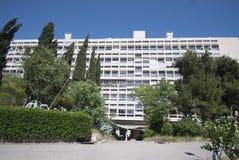 D'habitation de Unitè, Marsella, Francia fotografía de archivo
