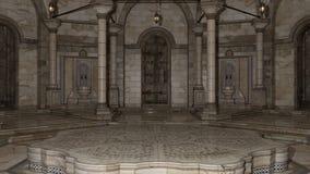 3D hacen de Hammam 0001 interior Imagenes de archivo