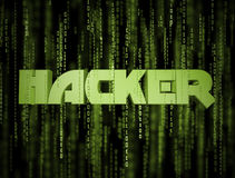 3D Hacker Matrix Stock Photography