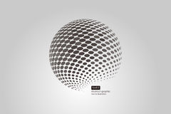 3D halftone spheres. Set of abstract backgrounds. Dotted Royalty Free Stock Photos