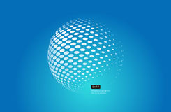 3D halftone spheres. Set of abstract backgrounds. Dotted Stock Photo